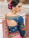 picture of Embroidered Pink Color Bridal Wear Fancy Silk Designer Saree