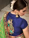 picture of Designer Green And Sea Green Color Fancy Fabric Wedding Wear Embroidered Saree