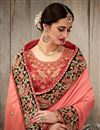 picture of Fancy Fabric Wedding Wear Designer Pink Color Saree With Embroidery Work