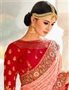 photo of Wedding Function Wear Designer Embroidered Lehenga In Art Silk Fabric Salmon Color