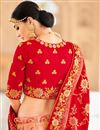 photo of Wedding Function Wear Embroidered Pink Lehenga In Art Silk Fabric