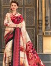 image of Cream Color Beautiful Festive Wear Printed Saree