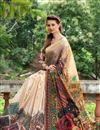 photo of Charming Cream Color Silk Fabric Beautiful Saree With Party Wear Blouse