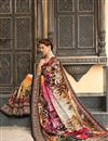 photo of Classic Cream Color Silk Fabric Captivating Party Wear Printed Saree