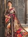 image of Classic Cream Color Silk Fabric Captivating Party Wear Printed Saree