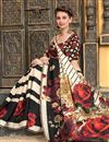 photo of Silk Fabric Impressively Printed Saree In Cream Color With Blouse