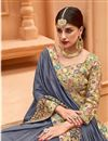 photo of Embellished Fancy Function Wear Border Work Grey Saree