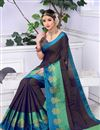 photo of Casual Wear Black Weaving Work On Saree In Cotton Silk