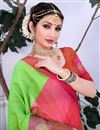 photo of Cotton Silk Green Casual Wear Saree With Weaving Work