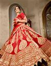photo of Red Wedding Wear Designer Lehenga Choli In Velvet Fabric