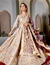 photo of Beige Art Silk Designer Wedding Function Wear Lehenga Choli