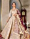 image of Wedding Function Wear Art Silk Lehenga Choli In Beige