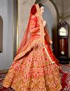 photo of Art Silk Wedding Function Wear Red Designer Lehenga