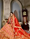 picture of Art Silk Wedding Function Wear Red Designer Lehenga
