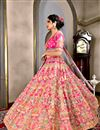 photo of Wedding Wear Pink Designer Art Silk Lehenga Choli