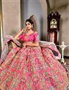 picture of Wedding Wear Pink Designer Art Silk Lehenga Choli