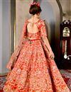 picture of Red Wedding Wear Designer Lehenga Choli In Art Silk