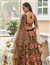 photo of Brown Color Wedding Wear 3 Piece Lehenga In Velvet Fabric With Embroidery Work