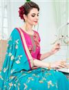 photo of Party Wear Designer Rani Color Uppada Silk Fabric Embroidered Dress