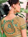 photo of Green Color Festive Wear Embroidered Saree With Party Wear Blouse