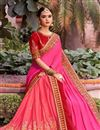image of Pink Color Designer Saree In Fancy Fabric With Embroidery Work