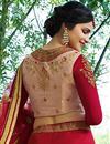 picture of Prachi Desai Embroidered Red Reception Lehenga In Art Silk Fabric