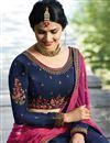 photo of Wedding Special Prachi Desai Art Silk Wedding Wear 3 Piece Lehenga In Navy Blue