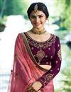 photo of Wedding Special Prachi Desai Purple Art Silk Reception Wear Lehenga Choli