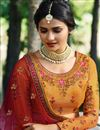 photo of Prachi Desai Embroidered Wedding Wear Lehenga Choli In Mustard
