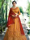 image of Prachi Desai Embroidered Wedding Wear Lehenga Choli In Mustard