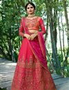 image of Prachi Desai Rani Art Silk Reception Wear Lehenga Choli