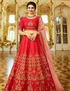image of Prachi Desai Function Wear Embroidered Red Color Art Silk Fancy Lehenga Choli