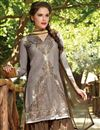 photo of Patiala Style Party Wear Cotton Salwar Suit in Grey Color