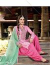 photo of Patiala Style Party Wear Cotton Salwar Suit in Pink Color