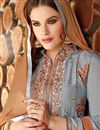 photo of Grey Color Party Wear Patiala Style Cotton Salwar Kameez