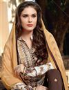photo of Cotton Fabric Patiala Style Salwar Suit in Off White Color
