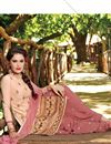 photo of Patiala Style Party Wear Cotton Salwar Suit in Peach Color