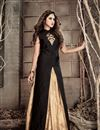 image of Banarasi Silk Black Function Wear Fancy Anarkali Salwar Suit