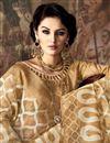 photo of Impressive Cream Color Party Wear Art Silk Saree