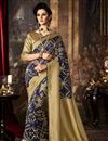 image of Dazzling Art Silk Fabric Weaving Saree In Blue Color