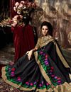 photo of Black Color Designer Party Wear Weaving Saree In Art Silk Fabric