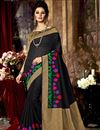 image of Black Color Designer Party Wear Weaving Saree In Art Silk Fabric