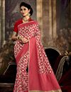 image of Imperial Pink Color Party Wear Art Silk Saree With Weaving Work