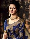 photo of Dazzling Art Silk Fabric Weaving Party Saree In Blue Color