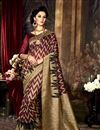 image of Magnificent Maroon Color Party Saree In Art Silk Fabric