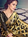 photo of Ready To Ship Kanchivaram Style Designer Black Color Party Wear Silk Saree With Unstitched Blouse