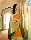 photo of Alluring Mustard Color Designer Silk Party Wear Saree With Weaving Work