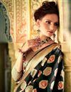 photo of Marvelous Black Color Silk Designer Party Wear Weaving Work Saree