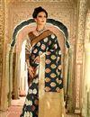 image of Marvelous Black Color Silk Designer Party Wear Weaving Work Saree