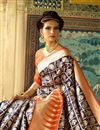 photo of Weaving Work Designed Blue Color Silk Party Wear Saree